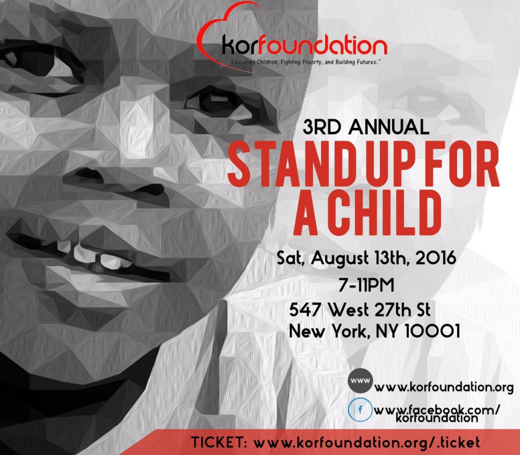 3rd annual Kor foundation Stand up for a child