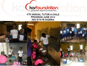 KOR FOUNDATION TUTOR A CHILD 2014